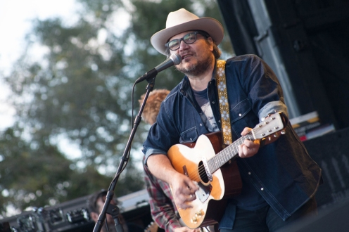 "Jeff Tweedy from TURF 2015, when he didn't bring out Feist to perform ""You and I"" despite my request. Boooooo!!"